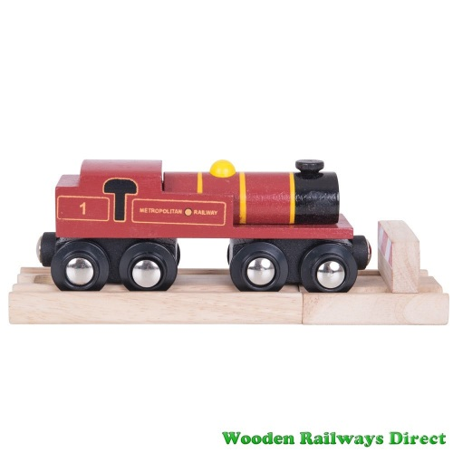 Bigjigs Wooden Railway Metropolitan Engine