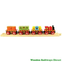 Bigjigs Wooden Railway Waste Train