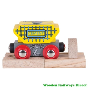 Bigjigs Wooden Railway Cement Wagon