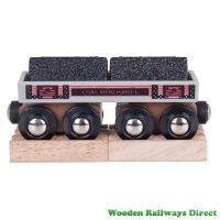 Bigjigs Wooden Railway Coal Wagon