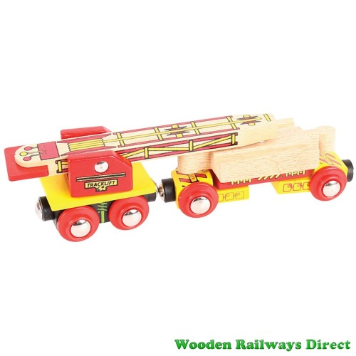 Bigjigs Wooden Railway Track Laying Wagon