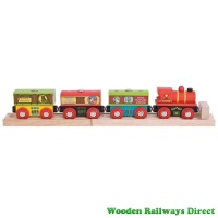 Bigjigs Wooden Railway Farm Train