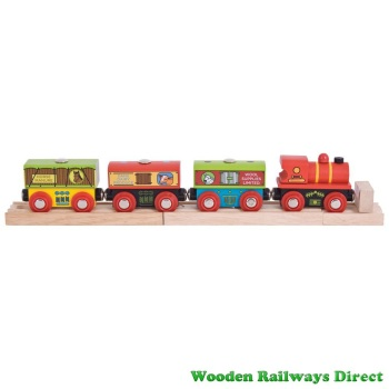 Bigjigs Wooden Railway Farm Train