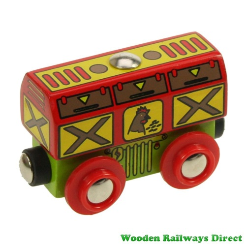 Bigjigs Wooden Railway Chicken Wagon