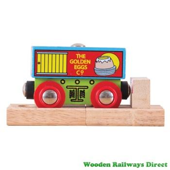 Bigjigs Wooden Railway Golden Egg Company Wagon