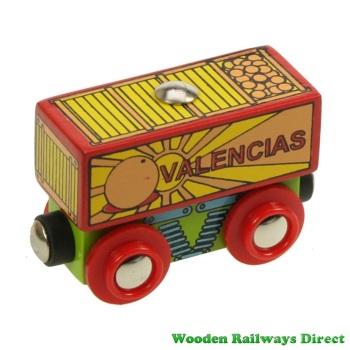 Bigjigs Wooden Railway Valencias Fruit Wagon