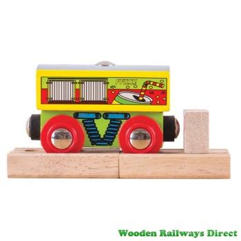 Bigjigs Wooden Railway Soft Drinks Wagon