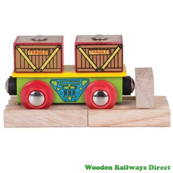 Bigjigs Wooden Railway Crates Wagon