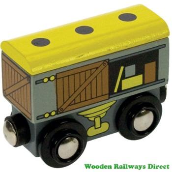 Bigjigs Wooden Railway Goods Wagon