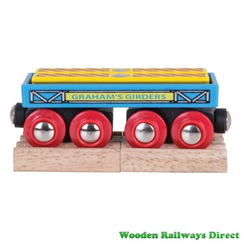 Bigjigs Wooden Railway Graham's Girders Wagon