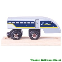 Bigjigs Wooden Railway Eurostar e320 Train End Carriage