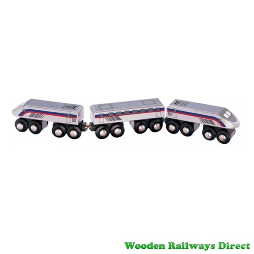 Wooden Railway High Speed Train