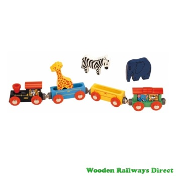 Wooden Railway Animal Train