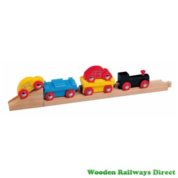 Wooden Railway Car Transporter Train