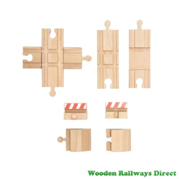 Wooden Railway Buffer Stops with Intersection Track