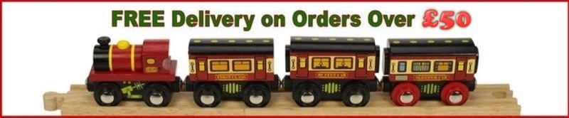 Wooden Railways Delivery Free Over £50