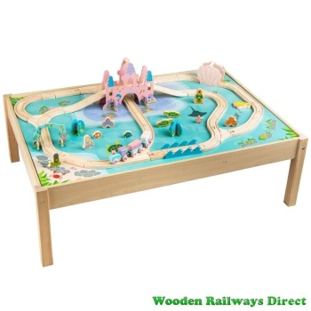 Bigjigs Wooden Railway Mermaid Train Table