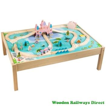 Bigjigs Wooden Railway Mermaid Train Table