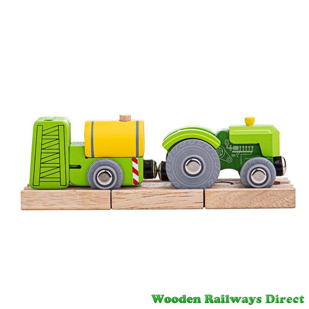 Bigjigs Wooden Railway Farm Tractor and Crop Sprayer