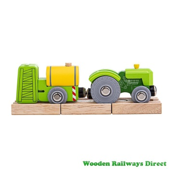 Bigjigs Wooden Railway Farm Tractor and Crop Sprayer