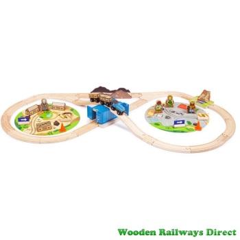 Bigjigs Railway Construction Train Set