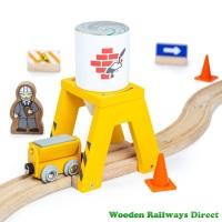 Bigjigs Wooden Railway Cement Silo