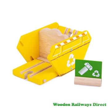 Bigjigs Wooden Railway Recycling Skip