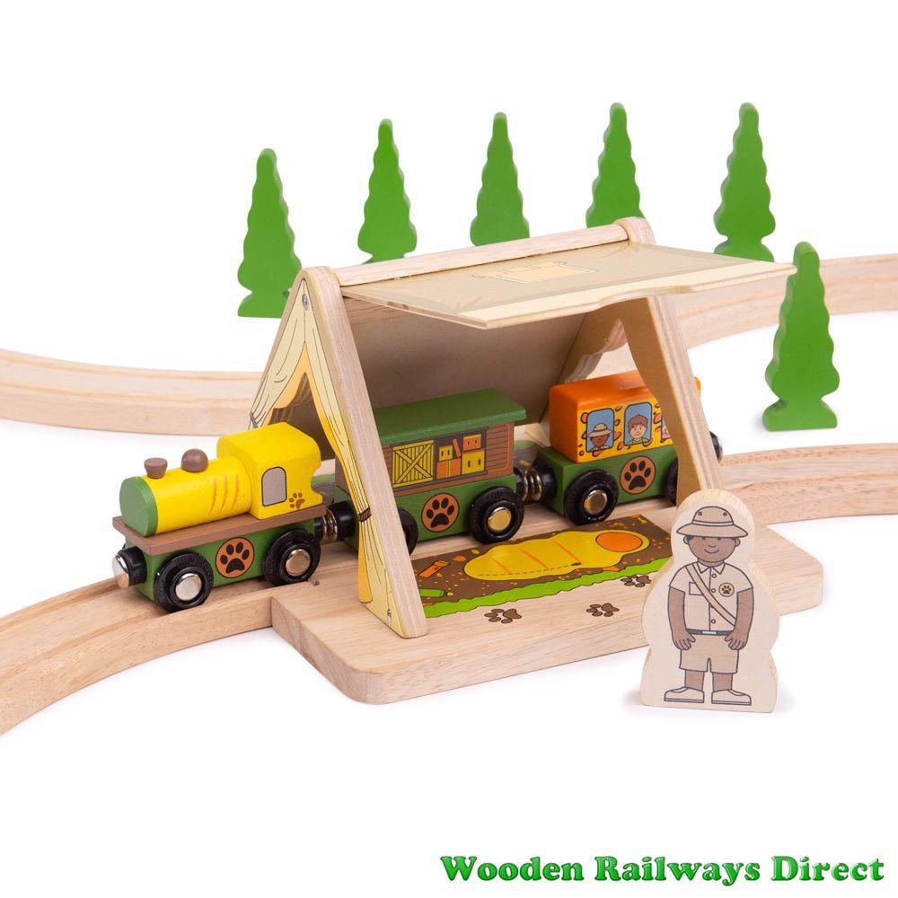 Bigjigs Wooden Railway Safari Tent