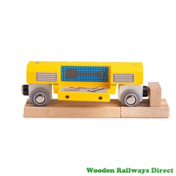 Bigjigs Wooden Railway Mobile Workshop