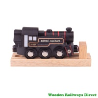 Bigjigs Wooden Railway Ivatt Engine - Black