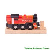 Bigjigs Wooden Railway Ivatt Engine - Red