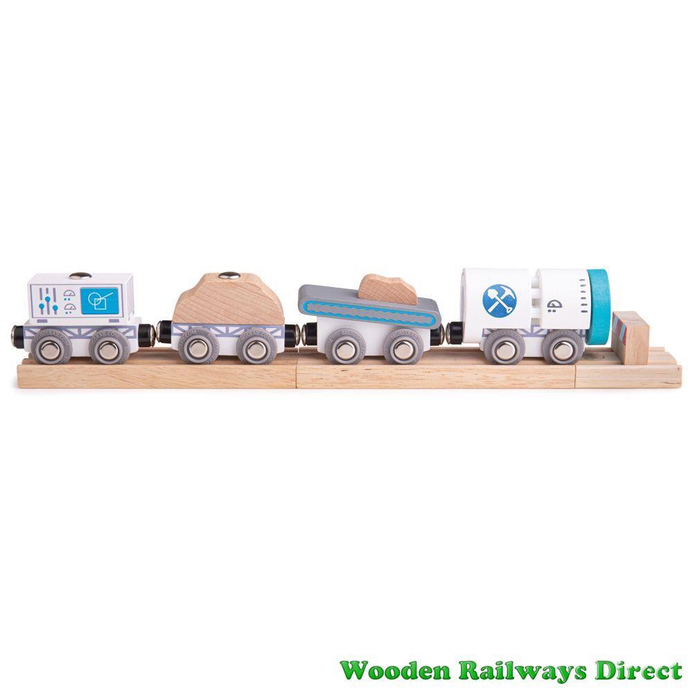 Bigjigs Wooden Railway Drilling Train