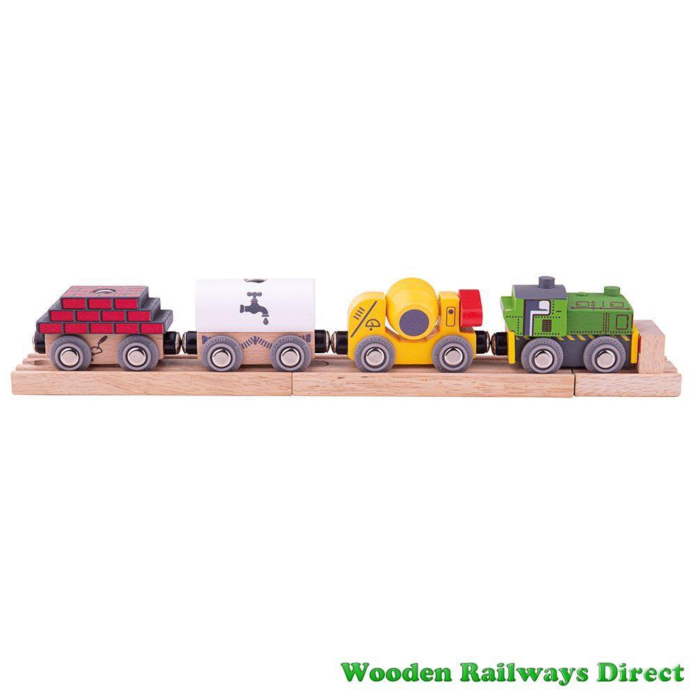 Bigjigs Wooden Railway Construction Train