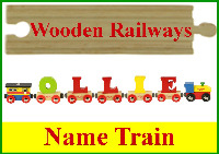 Wooden Railway Name Train