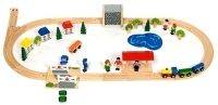 Bigjigs Railway Village Train Set