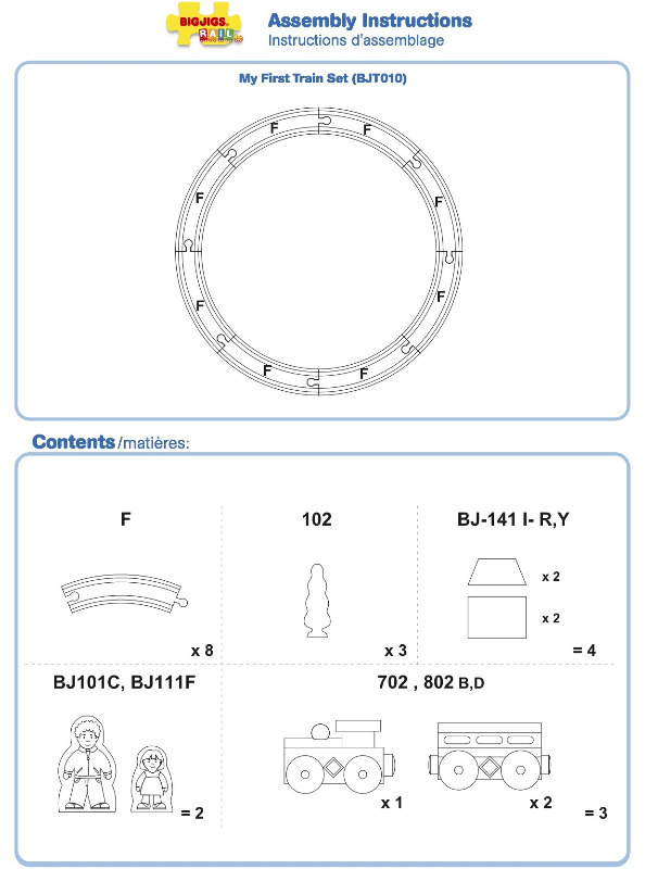 BJT010 - My First Train Set Instructions