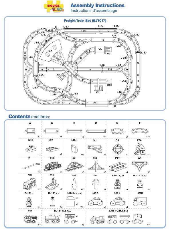BJT017 - Freight Train Set Instructions