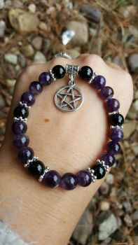 Amethyst & Black Tourmaline
