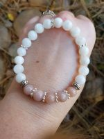 Rainbow Moonstone & Sunstone Bracelet