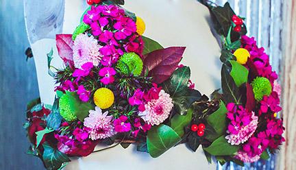 Floral bra display
