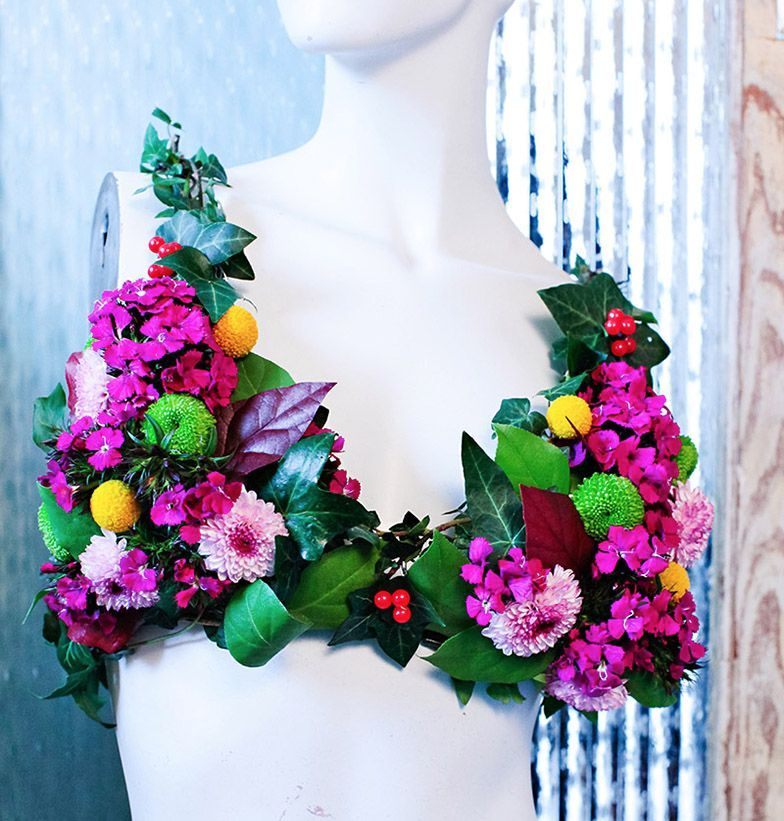 Flower Bra created for a ladies pampering event.