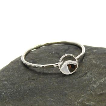 Sterling Silver Disc Stacking Ring 1mm Thin Ring