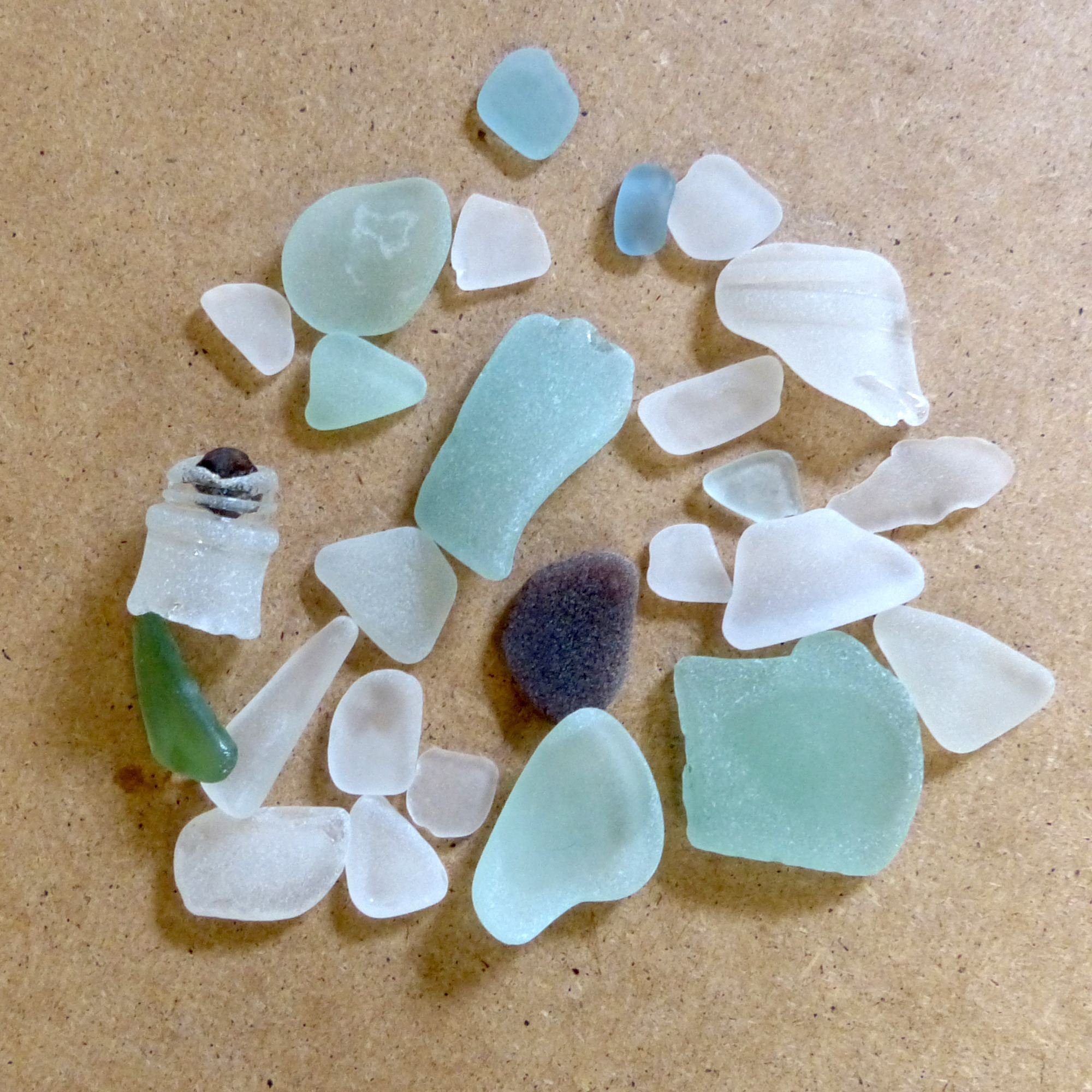 sea glass hunting