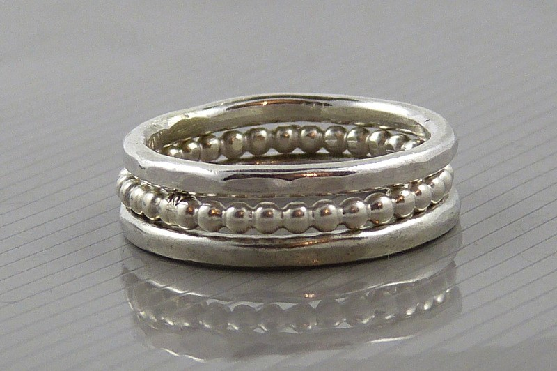 sterling silver stacking rings 2mm the strandline 6x4 (2)