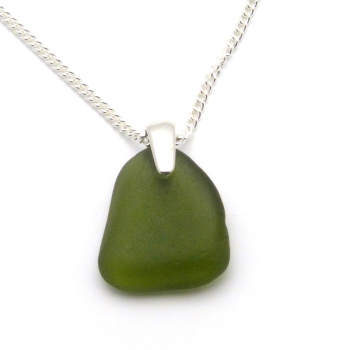 Fern Green Sea Glass Necklace FERN