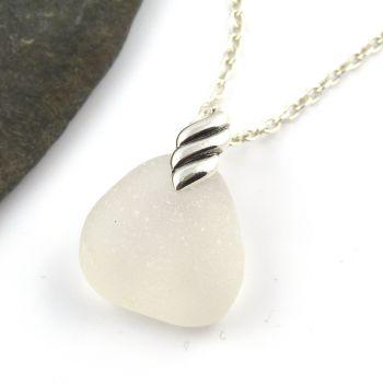 Snow White Sea Glass Necklace RACHEL