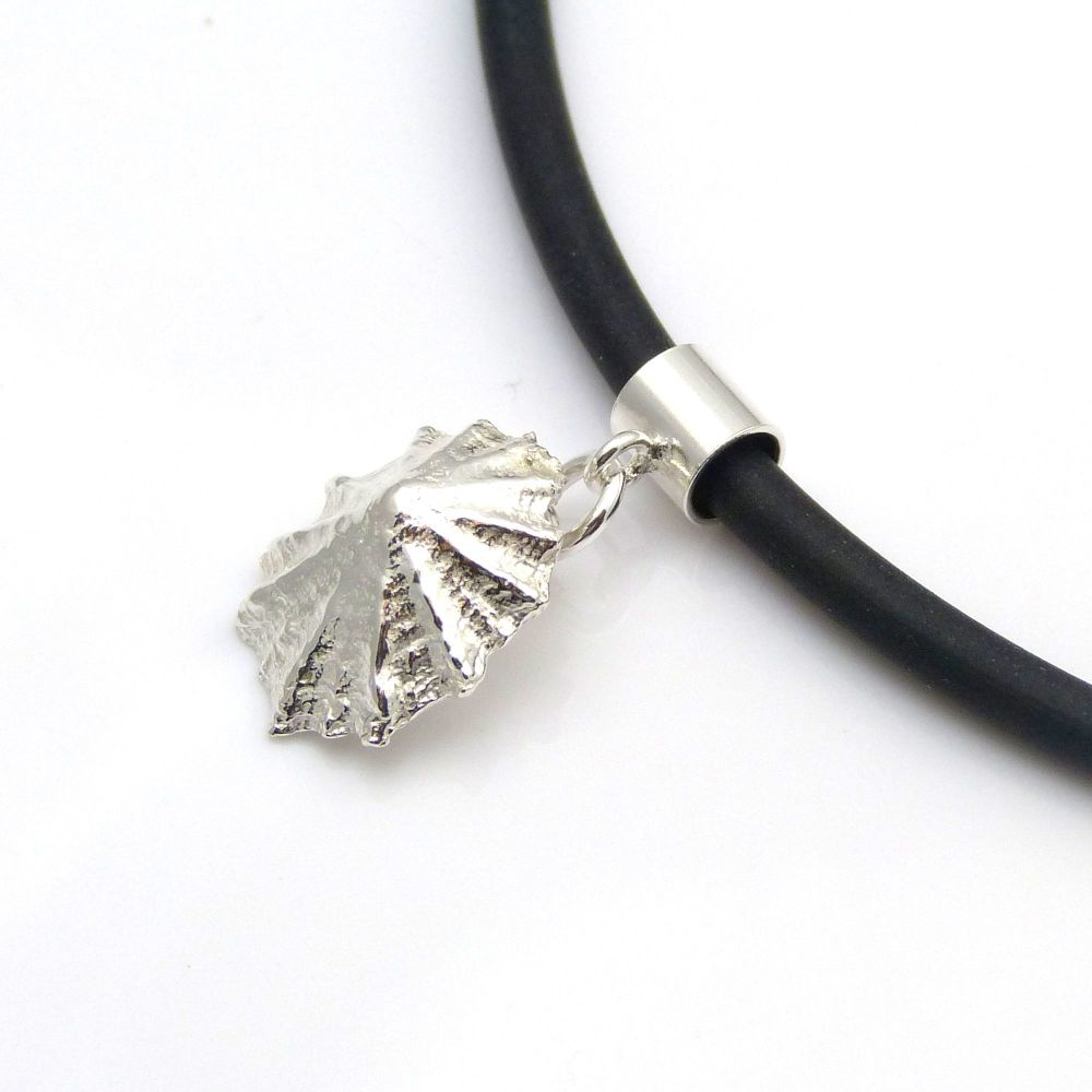 Sterling Silver Cast Limpet Seashell Pendant Necklace