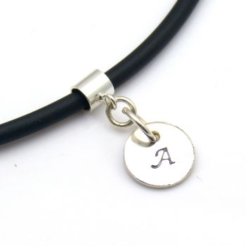 Single Initial Disc, Modern, Contemporary, Personalised Initial Stamped Jewellery