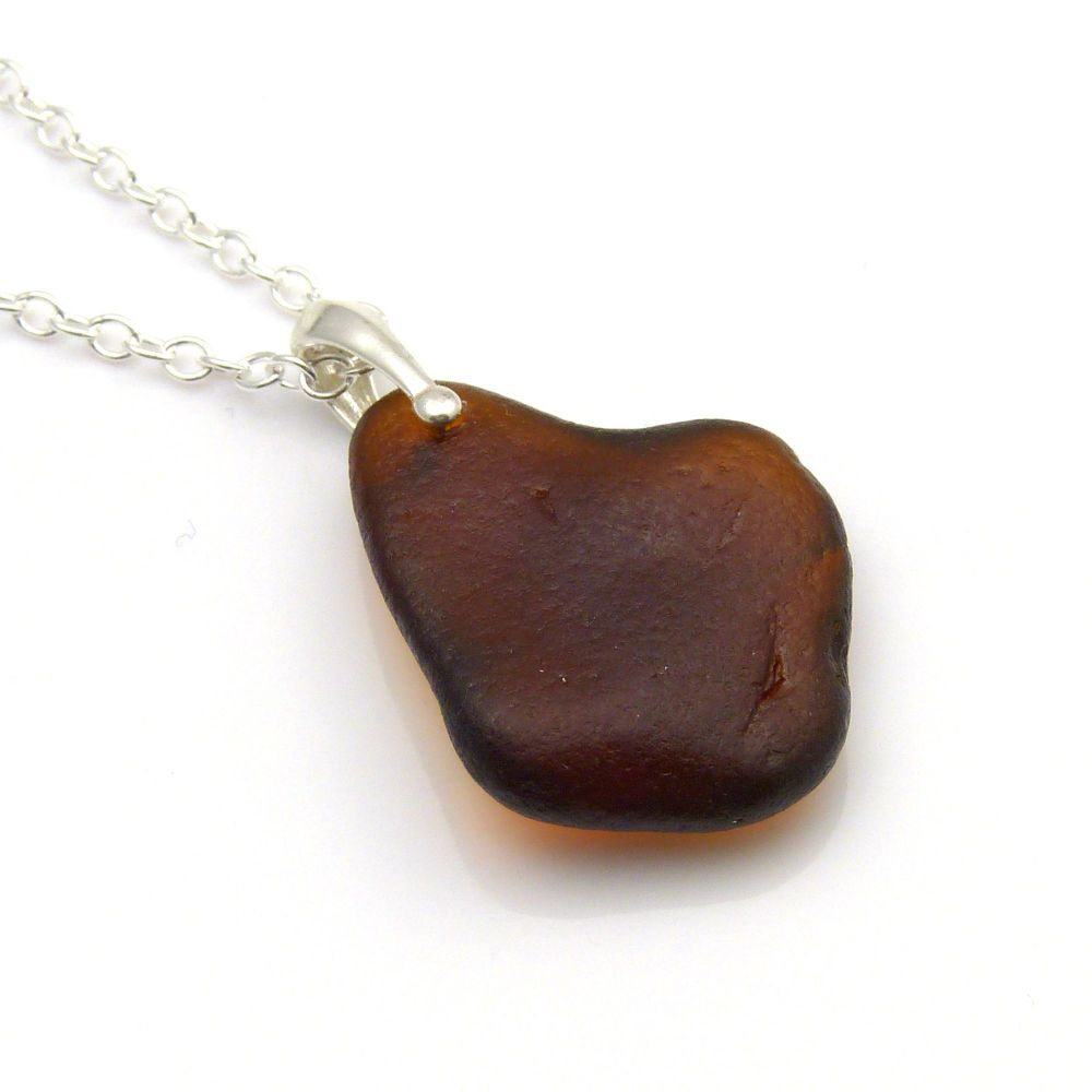 Sea Glass and Silver Necklace TARYN