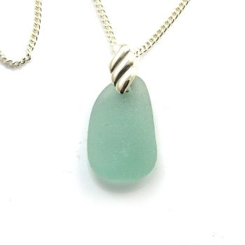 Sea Glass Necklace JERRI, Sea Glass Pendant, Beach Glass Necklace, Sea Glass Jewellery